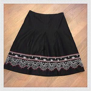 Ann Taylor LOFT linen blend pleated skirt